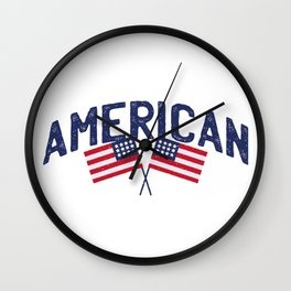 4th Of July Independence Day American Wall Clock