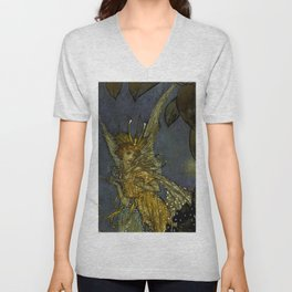 """The Fairy Queen"" Fairy Tale Art by Edmund Dulac Unisex V-Neck"