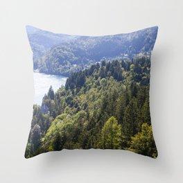 Slovenian Forrestation Throw Pillow