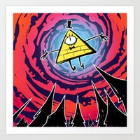 bill Art Prints featuring Bill by Dinolich