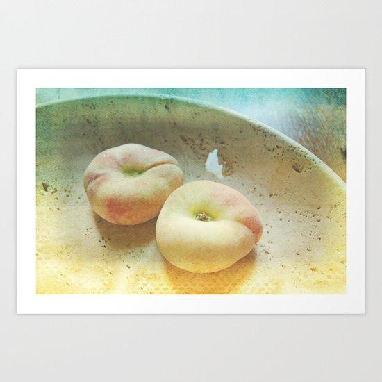Flat Peaches Art Print