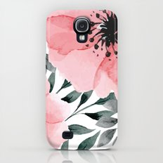 Big Watercolor Flowers Slim Case Galaxy S4