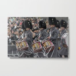 Snare Drums Marching during the Changing of the Guard in front of Buckingham Palace London England Metal Print