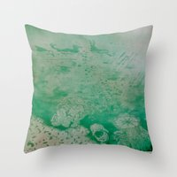 under the sea Throw Pillows featuring Under The Sea by ANoelleJay