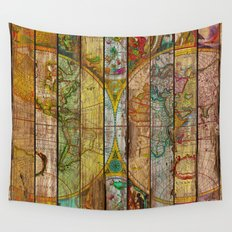 Around the World in Thirteen Maps Wall Tapestry