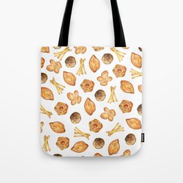 Watercolor Bread Illustration pattern | Italian breads | Baking pattern | Kitchen pattern Tote Bag
