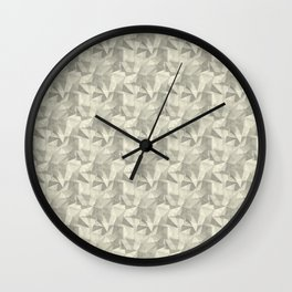 Abstract Geometrical Triangle Patterns 2 Benjamin Moore 2019 Trending Color Lemon Chiffon 932 Wall Clock