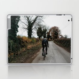 Winter road cycling Laptop & iPad Skin