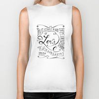scripture Biker Tanks featuring Love Extravagantly scripture print by Kristen Ramsey
