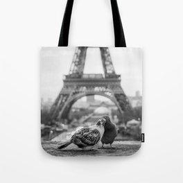 Love Birds (Black and White) Tote Bag