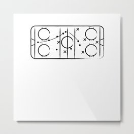 Hockey tactic Metal Print