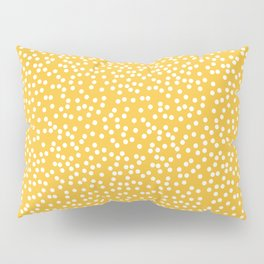 Mustard Yellow and White Polka Dot Pattern Pillow Sham