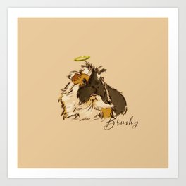 Brushy Cobaya Art Print