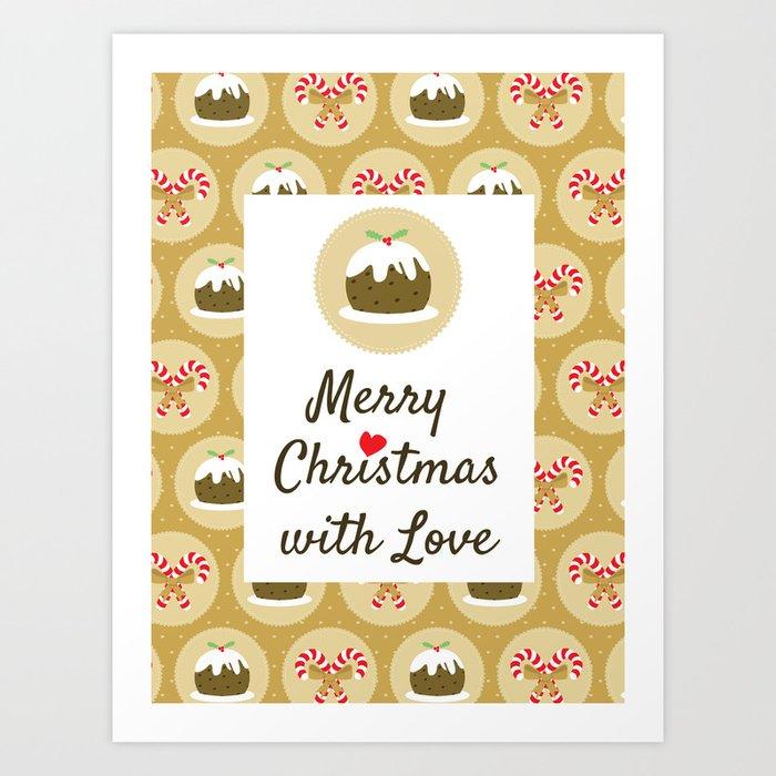 Merry Christmas With Love Kunstdrucke