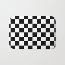 Checkered (Black & White Pattern) Bath Mat