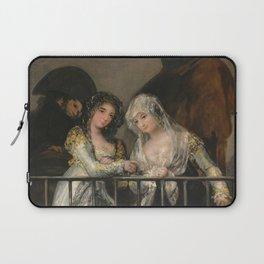 Francisco de Goya - Majas on a Balcony Laptop Sleeve