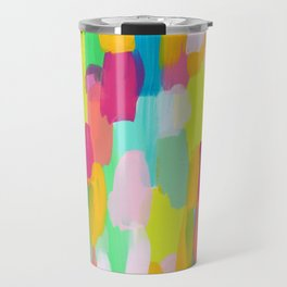 Meet Me In The Rainbow Woods - colorful abstract painting pattern Travel Mug