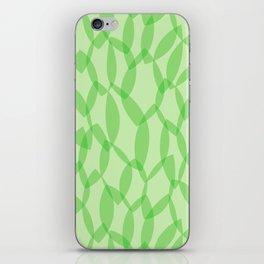 Overlapping Leaves - Light Green iPhone Skin
