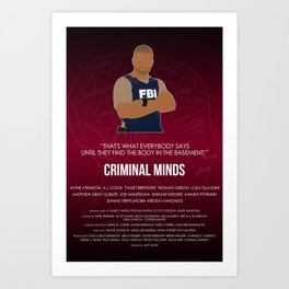 Criminal Minds - Morgan Art Print