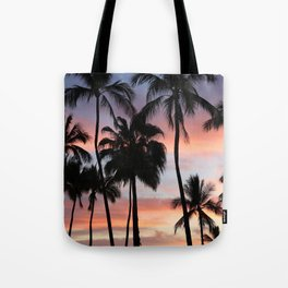Tropical Palm Trees Sunset in Mexico Tote Bag