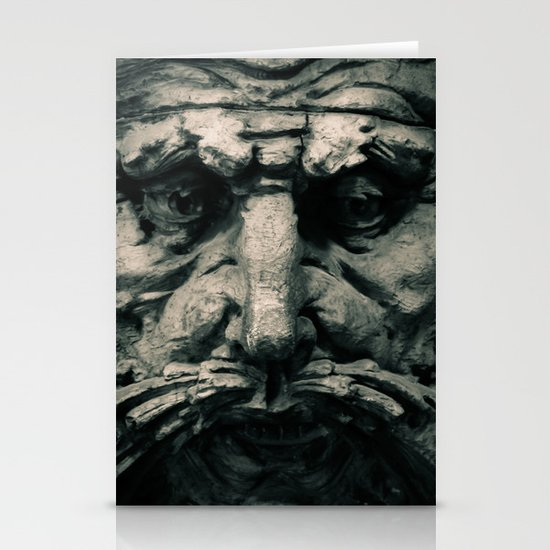 Wooden Man I (B&W) Stationery Cards