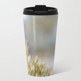 Winter Boxwood Leaves Travel Mug