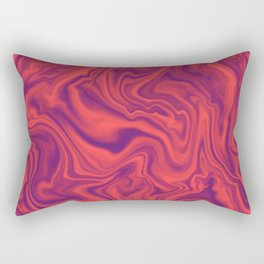 Neon Living Coral - color of year 2019, Ultra Violet Marble Abstract Gradient Pattern Rectangular Pillow