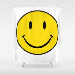 Smiley Happy Face Shower Curtain
