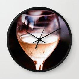Wine Glass Reflection Wall Clock