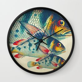Fish Classic Designs 3 Wall Clock