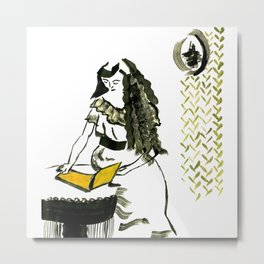 Reading girl Metal Print