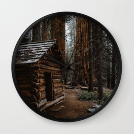 Log Cabin in the Giant Forest Wall Clock