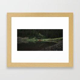 Canoe Reflections Framed Art Print
