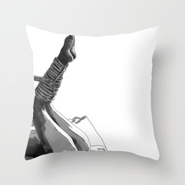 Shibari art Throw Pillow