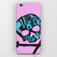 punk rock iPhone & iPod Skins featuring Punk Rock Never Dies by Even In Death