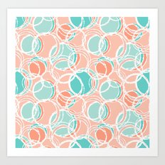 Sweet circles Art Print