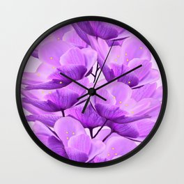 Violet Anemones Spring Atmosphere #decor #society6 #buyart Wall Clock