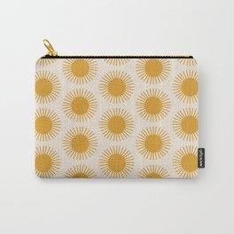 Golden Sun Pattern Carry-All Pouch