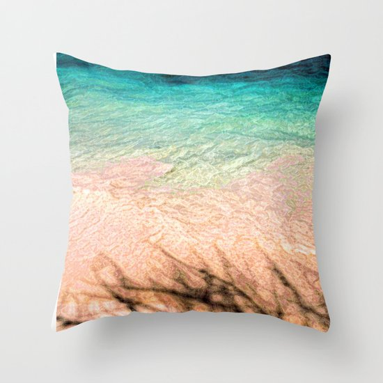 SEA AND TREE Throw Pillow