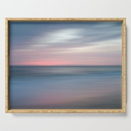 The Colors Of Evening On The Beach - Coastal Abstract Landscape Photograph Serving Tray