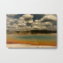 Sunset Lake Under A Cloudy Sky Metal Print