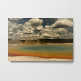Sunset Lake Under A Cloudy Sky Metal Print