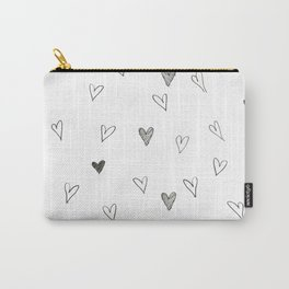 Ink hearts pattern Carry-All Pouch