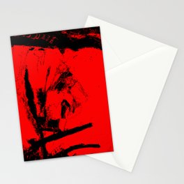 Red an black chaos Stationery Cards