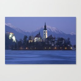 Frozen Lake Bled Canvas Print