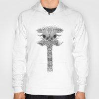 ostrich Hoodies featuring OSTRICH  by Monika Strigel®