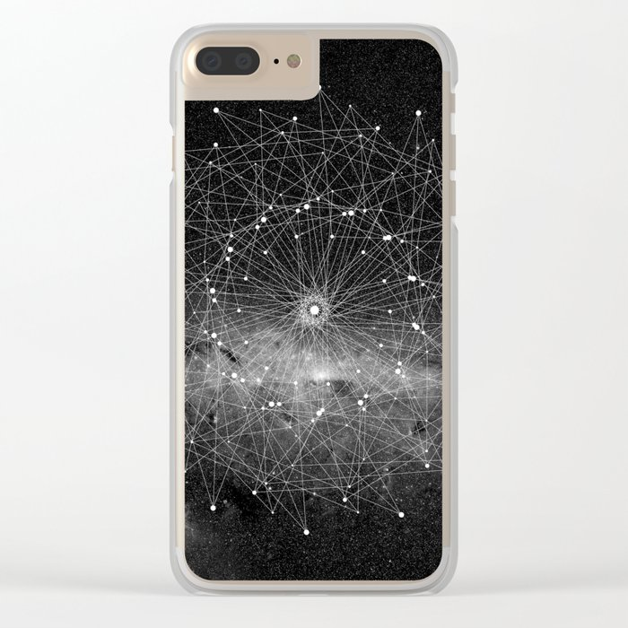 STARGAZING IS LIKE TIME TRAVEL Clear iPhone Case