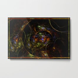 Wormhole Flame Fractal Metal Print