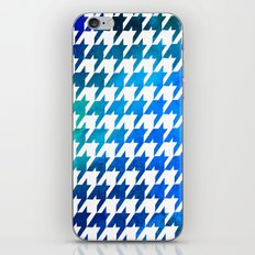 Houndstooth bright blue watercolor iPhone & iPod Skin