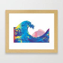 Hokusai Rainbow & Jpanese Snapper  Framed Art Print